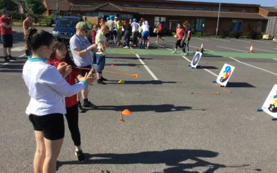 Students enjoy a sunny sports day at Fairfield Farm College